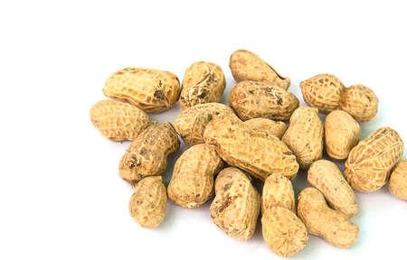 goober peas: Peanut isolate on white  Stock Photo