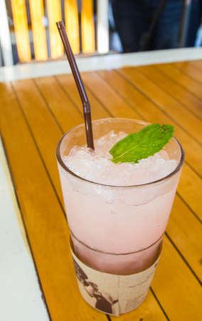 lychee juice: Lychee Juice on wooden table