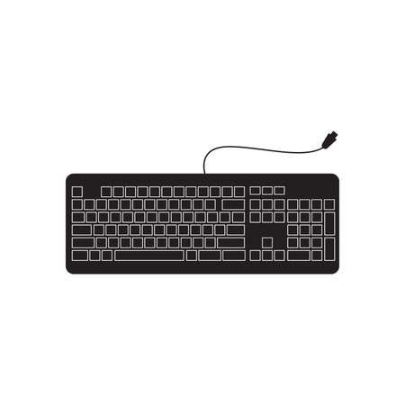 Keyboard computer vector design isolate on white