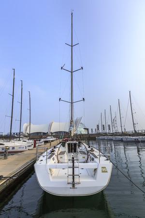 berth: sailing boats at the dock Editorial