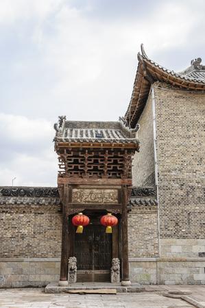 chinese courtyard: House at Shanxi, China Editorial