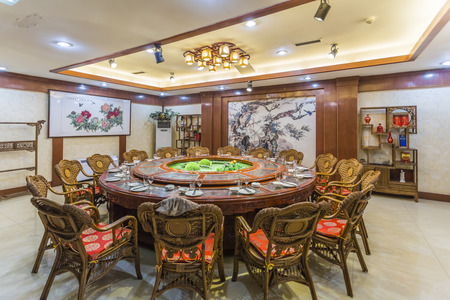 interior of Chinese restaurant