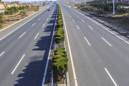 unhindered: highway in China Stock Photo