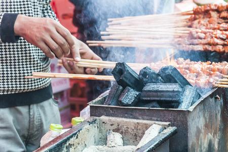 xinjiang: Xinjiang agneau Brochettes