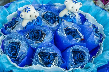 blue rose: Blue Rose Stock Photo