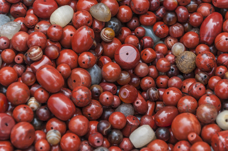 beads: Colored beads