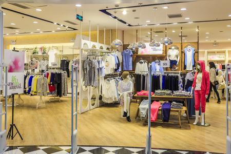 entrance of fashion clothing store