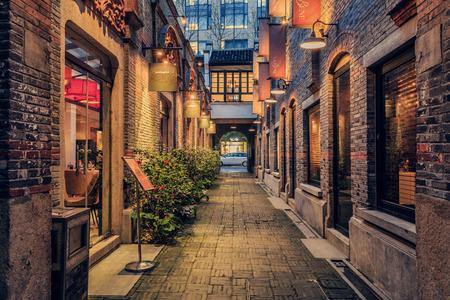 Street and building at Xintiandi, Shanghai