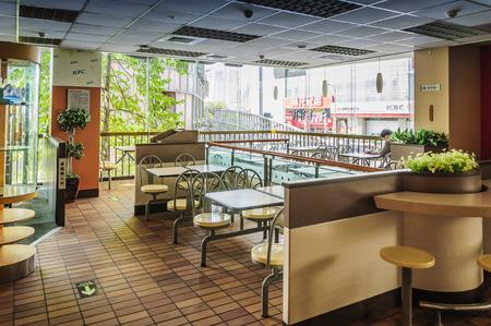 aisles: Fast-food restaurant