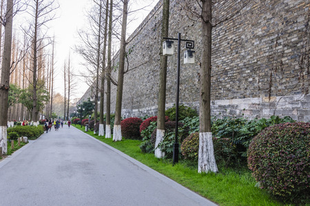 amp tower: The old city wall in Nanjing