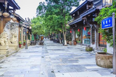 Alley in Chengdu, China Standard-Bild - 41297881