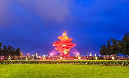 Night view at Qingdao Editorial