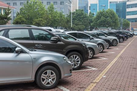 Car park Standard-Bild