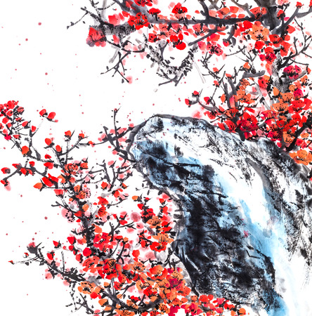 The traditional Chinese painting 免版税图像