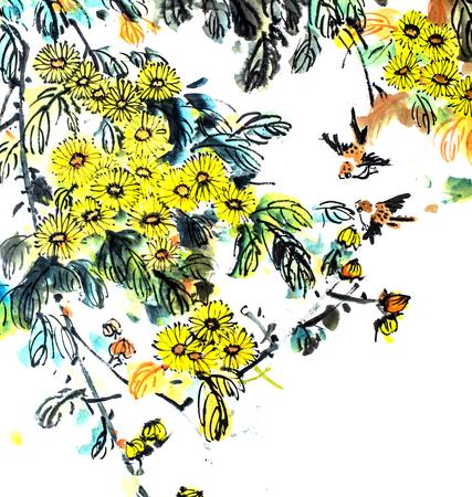 The traditional Chinese painting Zdjęcie Seryjne
