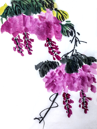 painting style: The traditional Chinese painting Stock Photo