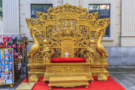 Chinese emperor throne