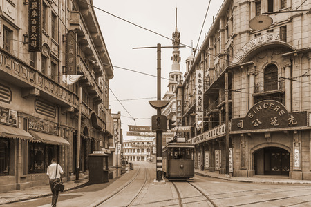 shanghai vieille rue Éditoriale