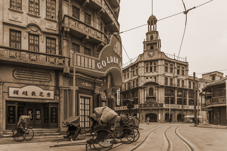 View of Shanghai old street