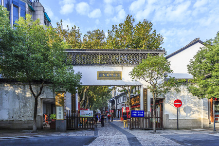 historical sites: Old street in Hangzhou Editorial