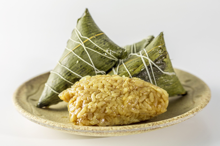 suppository: Chinese food- sticky rice dumplings Stock Photo