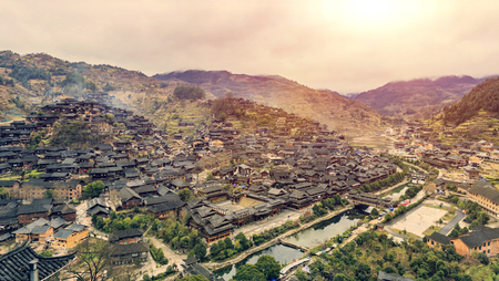 miao: Landscape view of Miao Village