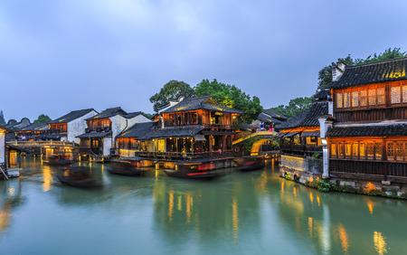 Wuzhen Nachtansicht Standard-Bild - 55837203