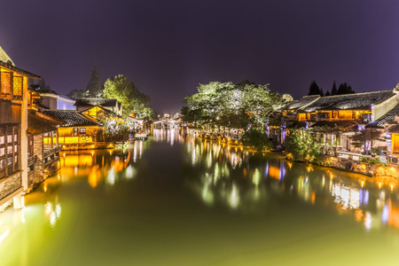 night view: Wuzhen night view Stock Photo