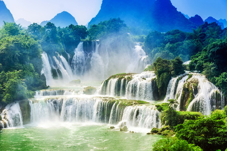 Waterfall landscape