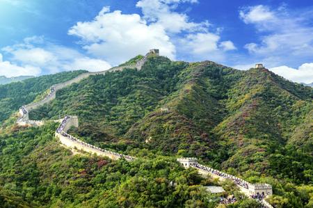 simatai: Great Wall of China Stock Photo