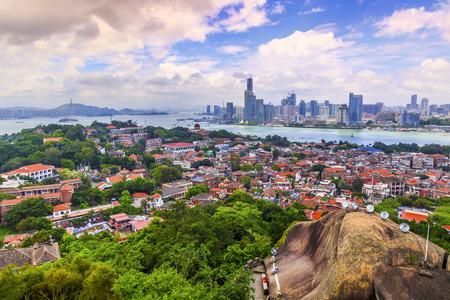 Gulangyu city landscape view Standard-Bild