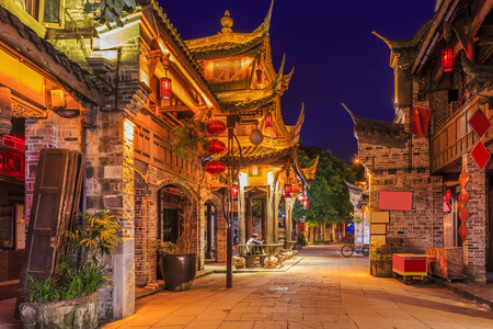 china town: Ancient town of Chengdu