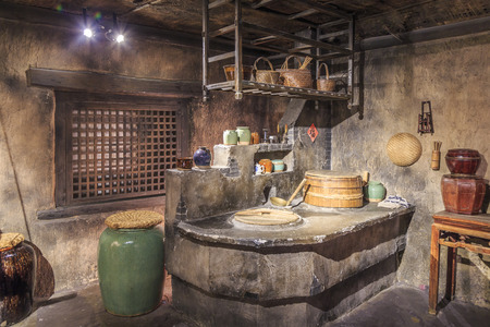 Old Chinese kitchen 免版税图像 - 58167797