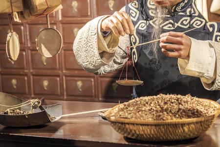medicina tradicional china: Tradicional tienda de medicina china