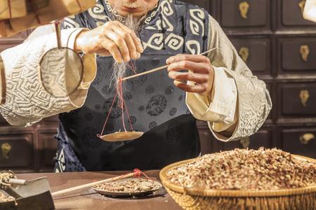 전통 중국 의학 저장소 스톡 콘텐츠