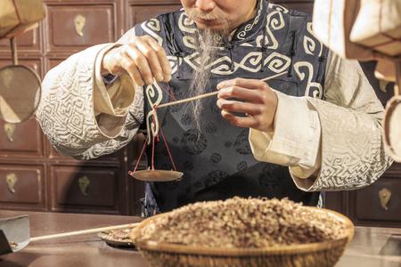 Die traditionelle chinesische Medizin store Standard-Bild - 58157413