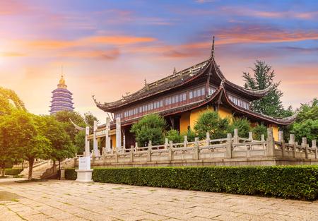 chinese garden: Chinese Garden with hongmei temple