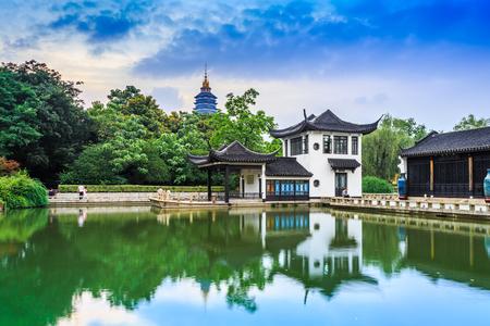 chinese garden: Chinese Garden with pond Editorial