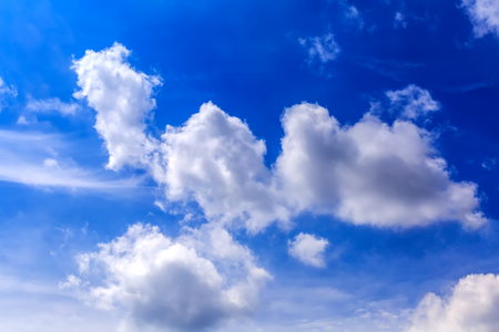 white clouds: Blue sky and white clouds Stock Photo