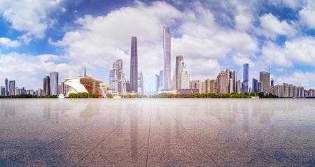 milepost: Guangzhou Pearl River scenery Stock Photo