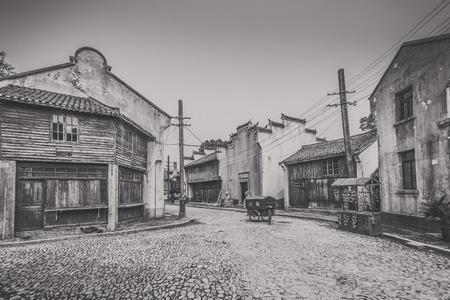 Les anciens bâtiments de Shanghai vieille rue à Shanghai
