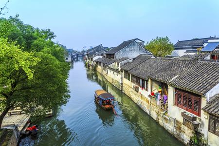 Chinas famous Jiangnan Water Village, Nanxun town.