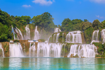 landscape view of waterfall