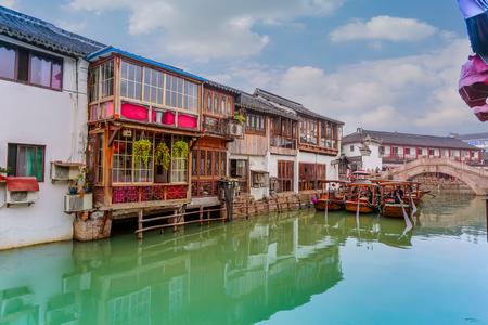 city park boat house: Ancient town, Zhujiajue, Shanghai