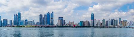 Panoramic view of Qingdao Sailing Center Stock Photo