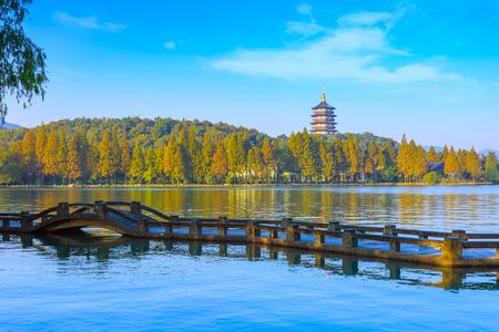 Hangzhou Westsee-Pagode Standard-Bild - 73576643