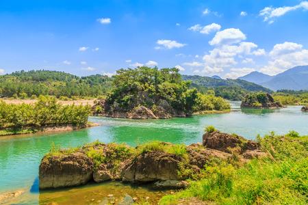 南渓川温州の風景 写真素材