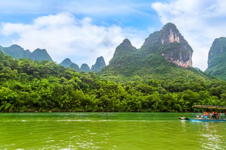 Guilin Lijiang River scenery in Yangshuo Stock Photo