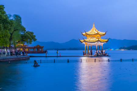 Hangzhou West Lake night view