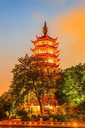 Classical gardens and pagodas in Changzhou, China